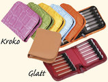 12 - Leather remedy cases without inner strap for 1,5g flat-bottomed vials/