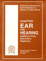 Addition from Boericke's Rep. to Kent's Rep.- Chapter Ear & Hearing/CCRH