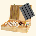 Wooden remedy box with snap lock and flexible wooden handle/