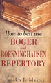 How to Best Use Boger & Boenninghausen Repertory/Farokh J. Master