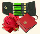 Rose Kit 5 on Red Leather Key Ring - Maute/Homeoplant
