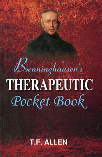 Timothy Field Allen: Boenninghausen's Therapeutic Pocket Book