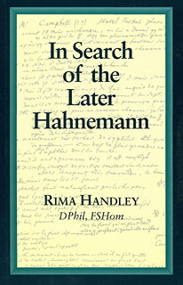 Rima Handley: In Search of the Later Hahnemann