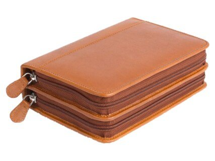 120 - Remedy case in nature cognac tanned nappa-leather