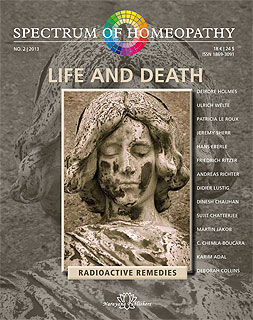 Spectrum of Homeopathy 2013-2, Life and Death