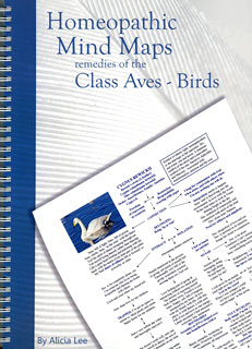 Alicia Lee: Homeopathic Mind Maps - Remedies of the Class Aves - Birds