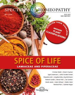 Spectrum of Homeopathy 2016-1, Spice of life