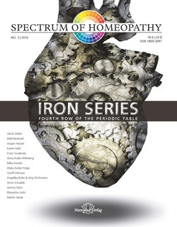 Spectrum of Homeopathy 2016-3, Iron series