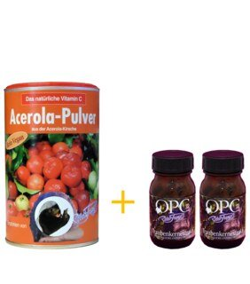 : OPC 133 by Robert Franz (2 x 60 capsules) and Acerola Powder Vitamin C 175g
