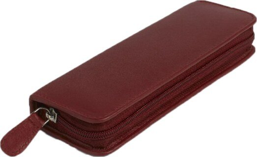 30 - Remedy case in high-quality cowhide - red