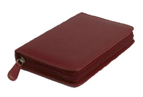 60 - Remedy case in high-quality cowhide - red