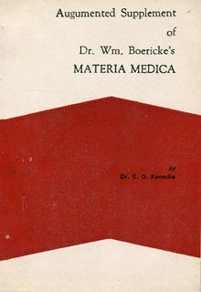 Augmented Supplement of Dr. W. M. Boericke's Materia Medica, K.D. Kanodia