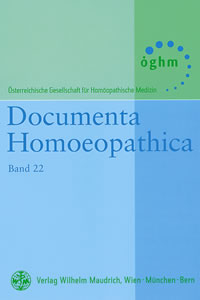 Band 22 - Documenta Homoeopathica, ÖGHM