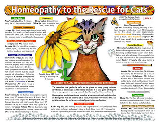 Homeopathy to the Rescue for Cats chart/poster, Lorelei Whitney
