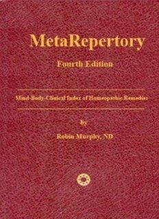 MetaRepertory - 4  Edition