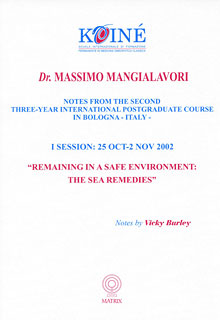Notes, Session 1, Massimo Mangialavori