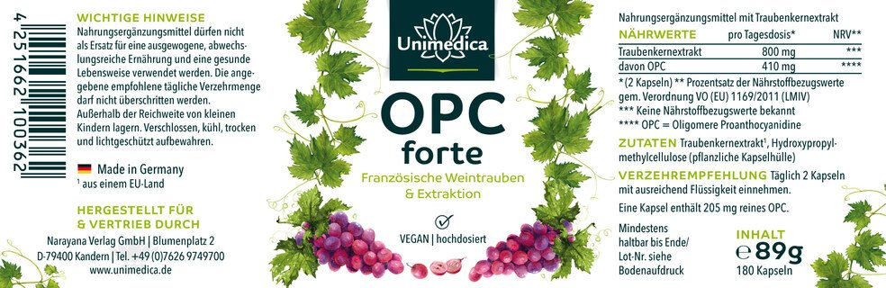 OPC forte - 180 capsules - from Unimedica
