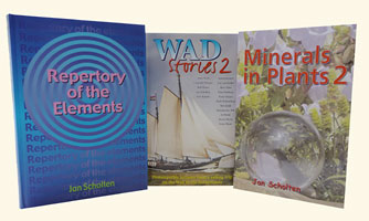 Scholten Set: Repertory of the Elements, Wad Stories 2 and Minerals in Plants 2, Jan Scholten