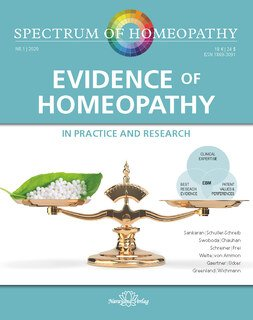 Spectrum of Homeopathy 2020-1, Evidence of Homeopathy, Narayana Verlag