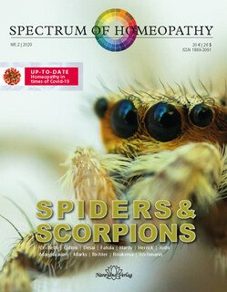 Spectrum of Homeopathy 2020-2, Spiders and Scorpions, Narayana Verlag
