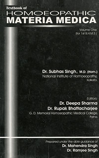 Text Book of Hom.Materia Medica, Subhash Singh
