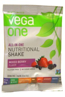 Vega One all-in-one Nutritional Shake - Mixed Berry, Einzelbeutel - 42 g