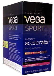 Vega Sport Recovery Accelerator - Apple Berry, Beutel 12 x 27 g