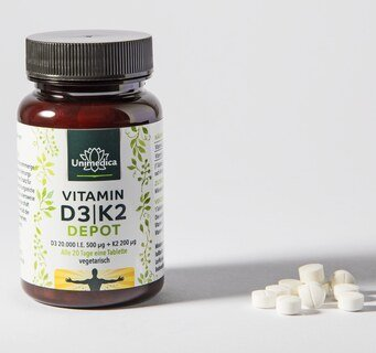 Vitamin D3 / K2 Depot - 180 tablets - from Unimedica