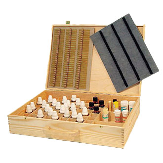 Wooden remedy box with snap lock and flexible wooden handle