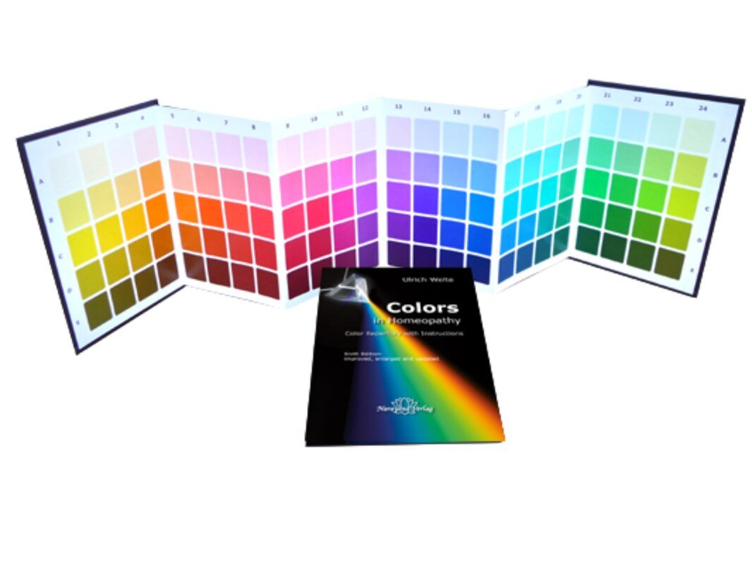 Colors in Homeopathy - Set, Ulrich Welte, Color charts and Textbook ...